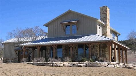 barn style house plans  wrap  porch youtube