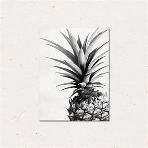 Cadre Deco Noir Et Blanc : avec cadre int rieur ananas noir et blanc toile affiche d 39 art affiche de peinture images ~ Melissatoandfro.com Idées de Décoration