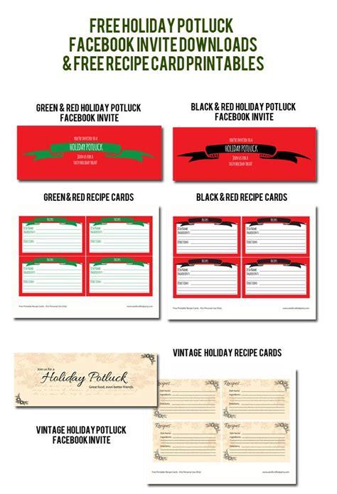 holiday potluck  downloads printables