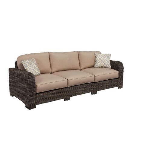 sofa springs home depot brown jordan northshore patio sofa with sparrow cushions