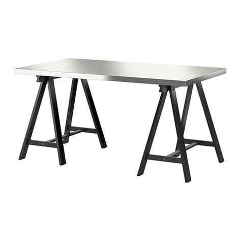 ikea stainless steel table home office furniture ikea