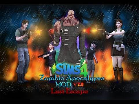 The Sims 4 Zombie Apocalypse -MOD- V 2.0 Last Escape - Release Trailer