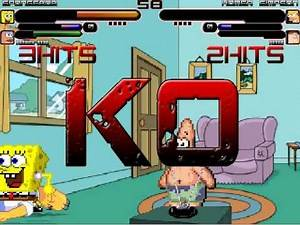 MUGEN Fight #10 - SpongeBob & Patrick VS Homer Simpson & Peter Griffin