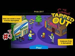 The Simpsons: Tapped Out [188] Pride Update (2017) Pt 3 {Rainbow Balloons} (FINAL)