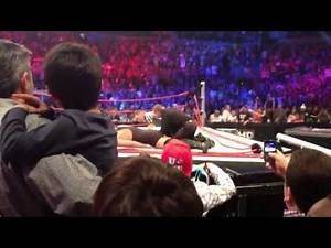 Henery/big show ring collapsed ringside view 10/23/11