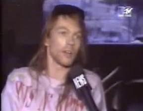 GUNS N' ROSES - Axl Rose Arrested In 1992