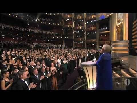 Olivia de Havilland presenting the 75th Past Oscar Winner Reunion