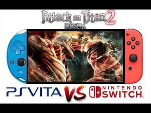 Attack on Titan 2 Gameplay Comparison (PS Vita vs Nintendo Switch)