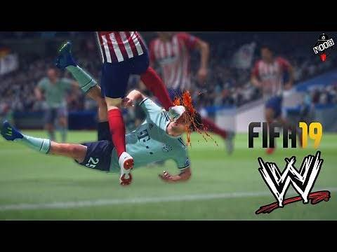 FIFA OR WWE ! FIFA 19 WRESTLING FAILS WITH WWE COMMENTARY!