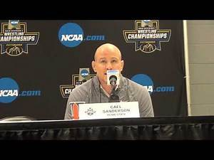 Penn State coach Cael Sanderson after 2019 NCAA semifinals