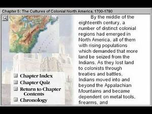 The Cultures of Colonial North America 1700--1780 (Discovering American History Part 5)
