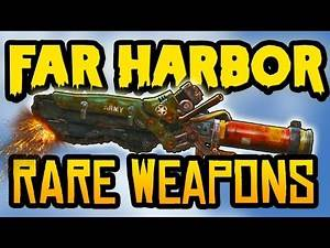 Fallout 4 Rare Weapons - Top 10 Powerful Secret & Unique Weapons! (Fallout 4 Far Harbor Weapons)