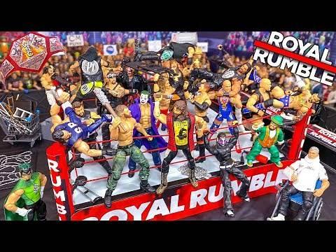 ROYAL RUMBLE WWE ACTION FIGURE MATCH! HARDCORE CHAMPIONSHIP!