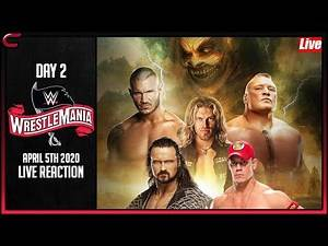 WWE WrestleMania 36 Day 2 Live Stream: Reactions Conman167 -Full Show Watch Along