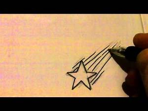 Inking Shooting Star Tattoo Art Idea