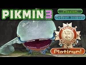 Pikmin 3 WiiU - Mission Mode - Defeat Bosses 1: Armored Mawdad 0:42 Platinum Medal SOLO [No Death]