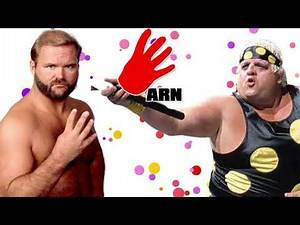 Arn Anderson shoots on Dusty Rhodes wearing Polka Dots in the WWF