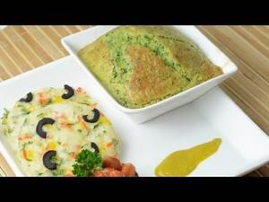 Corn and Spinach Souffle - By Vahchef @ vahrehvah.com