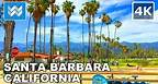 Walking from State St to Stearns Wharf in Downtown Santa Barbara, California   Travel Guide 🎧 【4K】