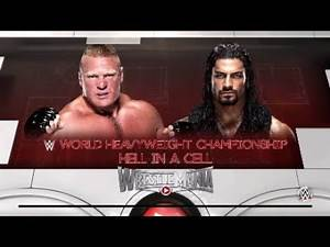Roman reigns vs brock lesnar wrestlemania 31