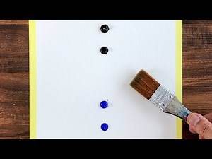 """How to paint the """"shining sea"""" with acrylic paint   Acrylic painting for beginners   ASMR #149"""