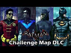 Batman Arkham Knight: Challenge Map DLC Gameplay HD