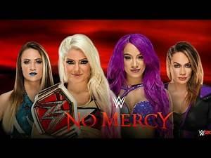 Nia Jax vs Sasha Banks vs Alexa Bliss vs Emma | WWE No Mercy 2017 (WWE 2K Prediction Highlights)