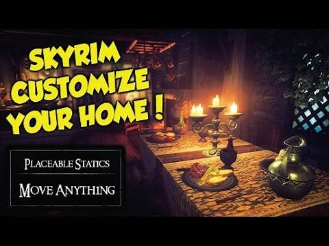 Skyrim HOW TO FULLY CUSTOMIZE YOUR HOME! (Placeable Statics Mod)