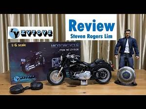 ZYTOYS Review Motorcycle Harley Davidson Fat Boy Captain America Winter Soldier Steve Rogers 1:6