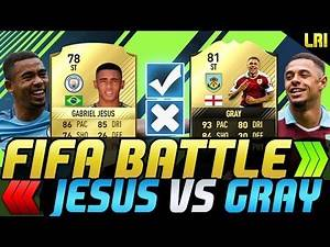 FIFA 17 - FIFA BATTLE! GABRIEL JESUS VS IF GRAY! - FIFA 17 ULTIMATE TEAM