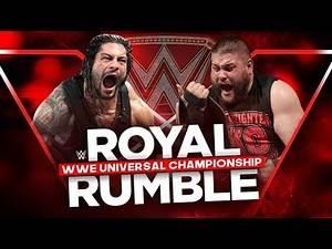 Roman Reigns vs Kevin Owens - Universal Champion - Royal Rumble 2017