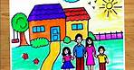 Family drawing for kids||how to draw simple family||family with 4 members||family easy drawings