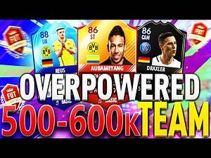 THE BEST OVERPOWERED 500K TO 600K FUT CHAMPIONS SQUAD BUILDER FT. REUS & OTW! FIFA 17 ULTIMATE TEAM