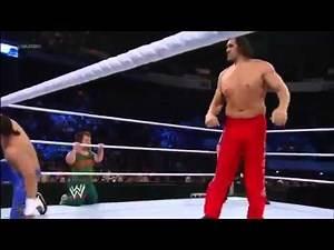 WWE Smackdown 1 4 13 Full Show The Great Khali, Hornswoggle & Natalya vs Primo, Epico & Rosa