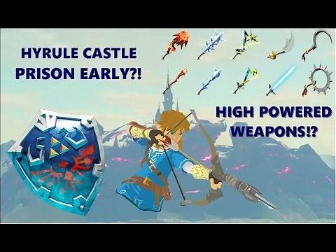 How to Get The Hylian Shield/How to Get into Hyrule Castle Early   Breath of The Wild
