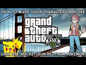 GTA Online: How to make your character look like Red from Pokemon!