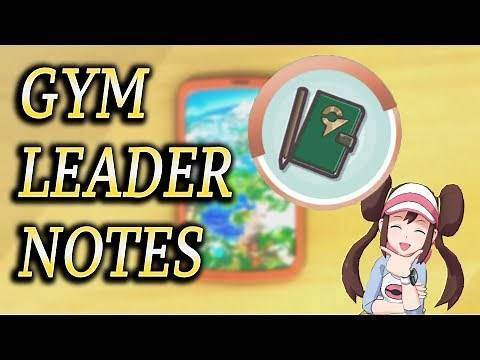 How To Get Gym Leader Notes! - Pokémon Masters