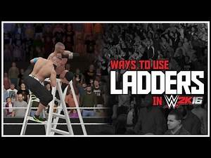 WWE 2K16 - Extreme Ways To Use Ladders! (WWE 2K16 Things To Do With A Ladder)