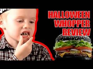 Halloween Whopper Extreme Reaction Review Burger King