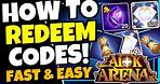 HOW TO REDEEM CODES!!! [AFK ARENA]