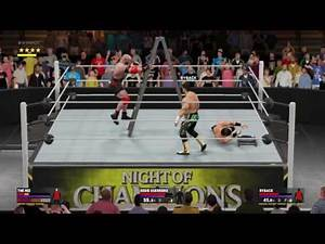 WWE 2K17 Eddie Guerrero VS Ryback VS The Miz Triple Threat TLC Match Intercontinental Title