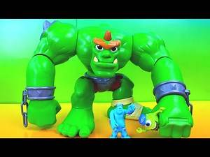Imaginext Castle Ogre goes to Monsters University Bane Joker take over Just4fun290