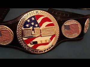 WWE United States Spinner Championship Replica Belt VERSION 2 Unboxing