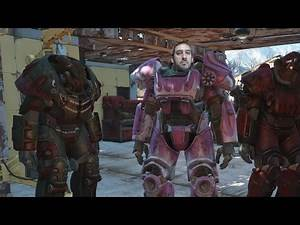 Fallout4 How To get Hot Pink Power Armor Paintjob by Going Through House of Horrors