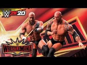 WWE 2K20 - Triple H vs Batista - No Holds Barred Match (WrestleMania 35)