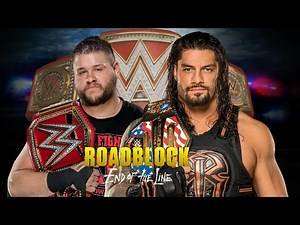 WWE Roadblock End Of The Line 2016: Kevin Owens vs Roman Reigns - WWE UNIVERSAL CHAMPIONSHIP - Promo