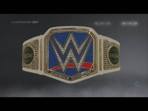 WWE 2K17 Naomi WWE Smackdown Women's Championship Side Plates Creations Custom Championship