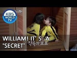 WILLIAM and TAERA eat chocolate in secret. shh♥ [The Return of Superman/2018.05.06]