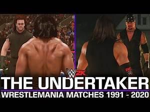 ALL UNDERTAKER WRESTLEMANIA MATCHES! (1991 - 2020) | WWE 2K MODS