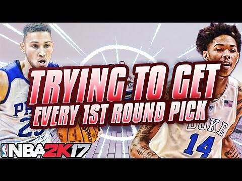 NBA 2K17 MY LEAGUE: TRYING TO GET EVERY FIRST ROUND PICK!!! 30 TRADES??!?